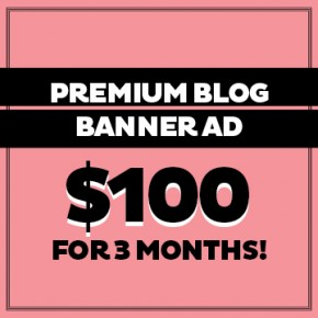 Premium Blog Banner Ad $100 for 3 months!