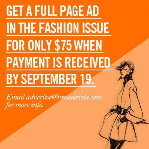 Advertise in the September Issue