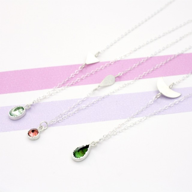Tourmaline Drop Necklaces